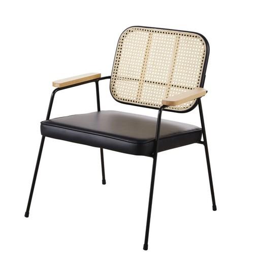 fauteuil-cannage-rotin-metal