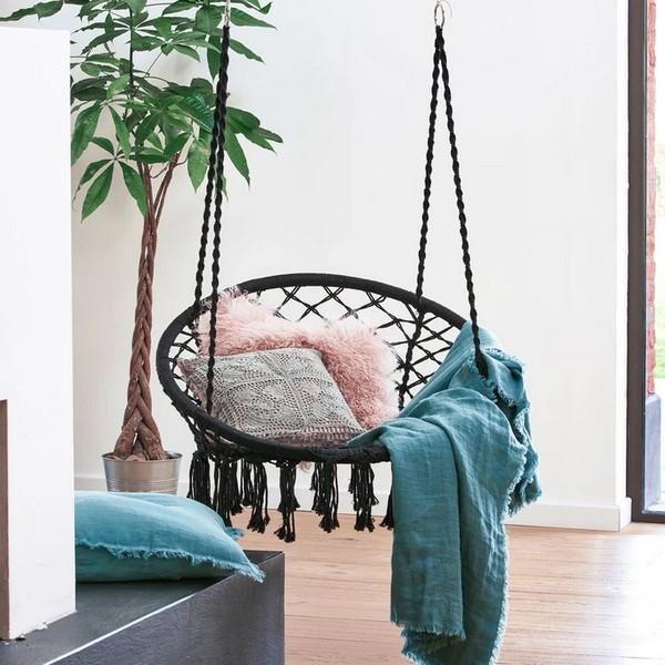 chaise-hamac-crochet-noir