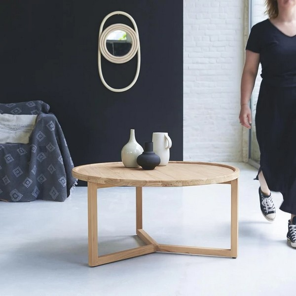table-basse-teck-ronde