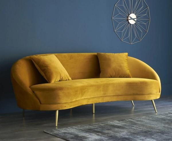 canape-vintage-velours-jaune