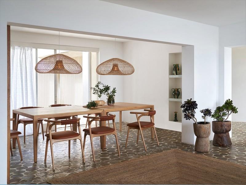 fauteuil table bois