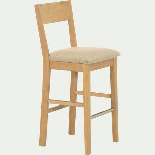 chaise bar chene massif