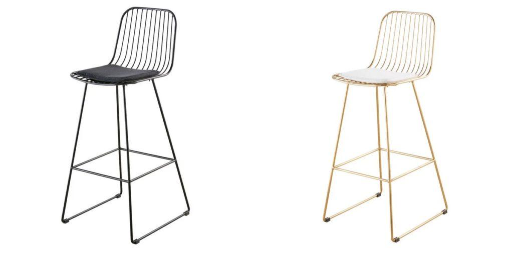 chaise haute bar metal