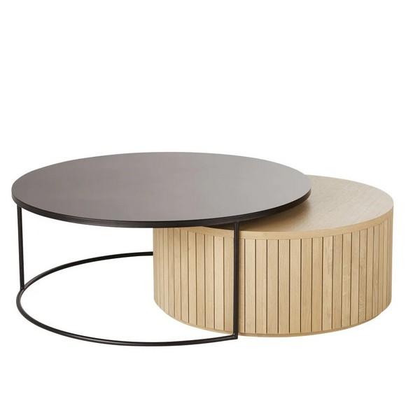 tables-gigogne-rondes-bois-metal