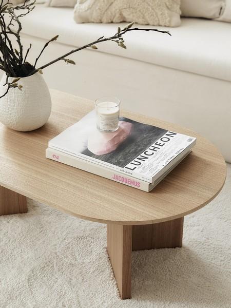 table basse ovale bois